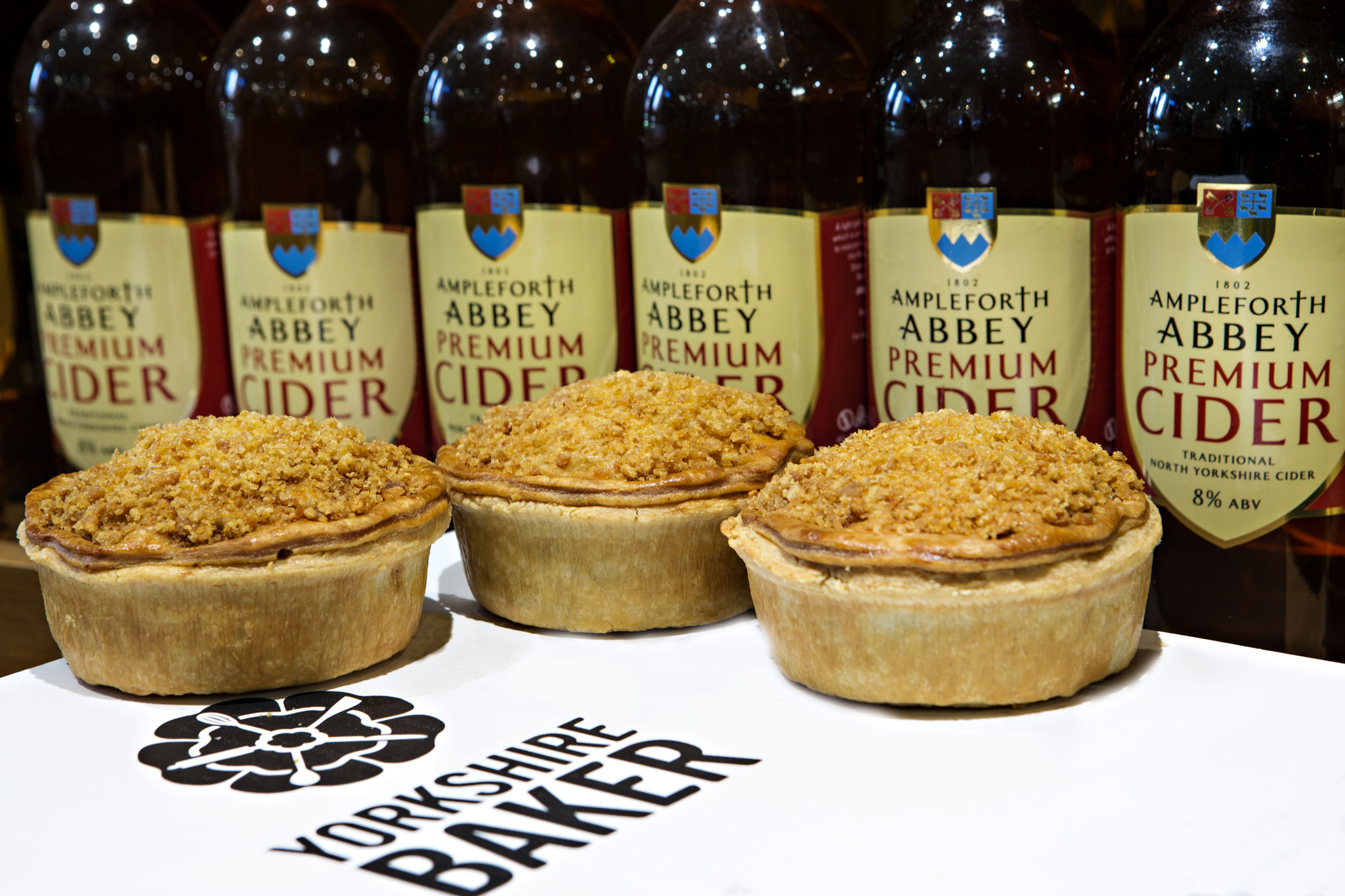 The new pie is a collaboration between Hunters of Helmsley, Yorkshire Baker and Ampleforth Abbey
