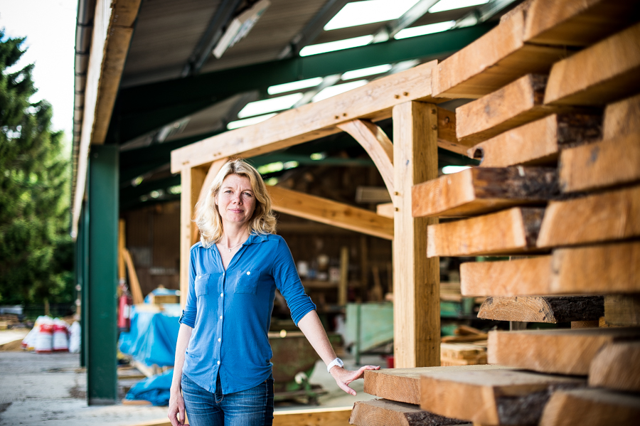Emma Woods, at the Duncombe Sawmill, has been awarded an MBE